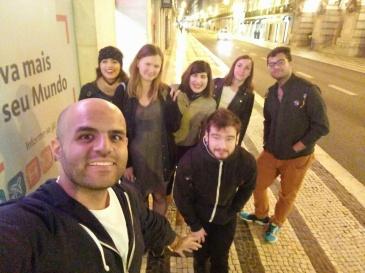 Midnight walk at Lisbon, Portugal